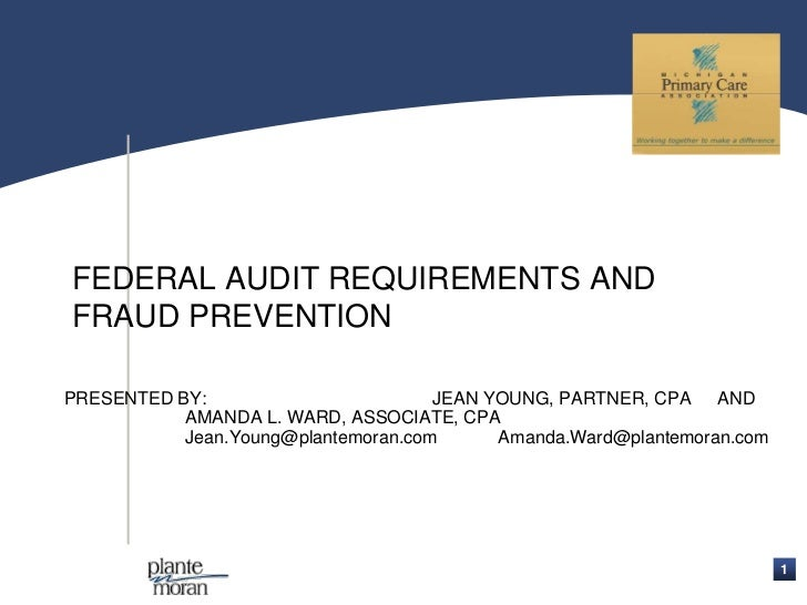 Federal Audit Requirements & Fraud Prevention