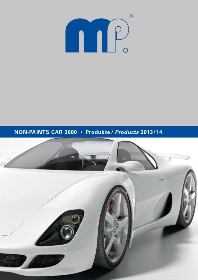 NON-PAINTS CAR 3000 Produkte / Products 2013/14