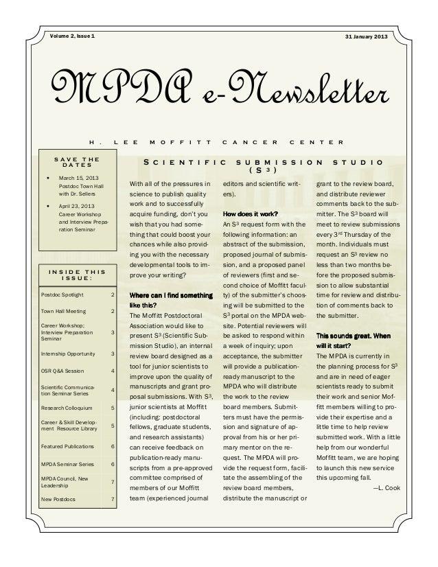 MPDA e-newlsetter 2013 jan 31