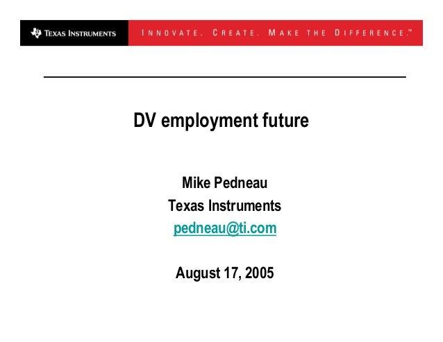 DV Employement Future