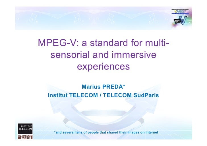 Mpeg v-awareness event