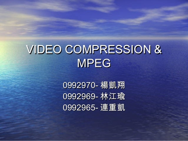 Mpeg family