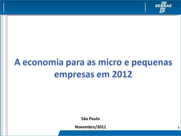 São PauloNovembro/2011   1