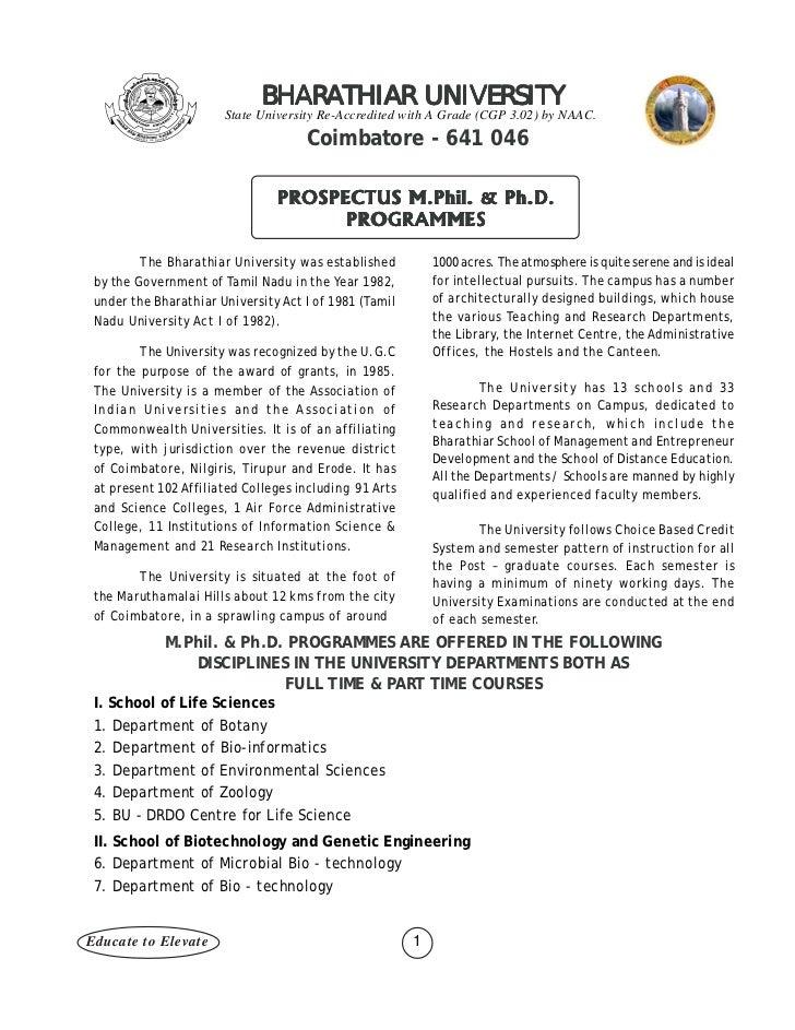 Prospectus format research paper