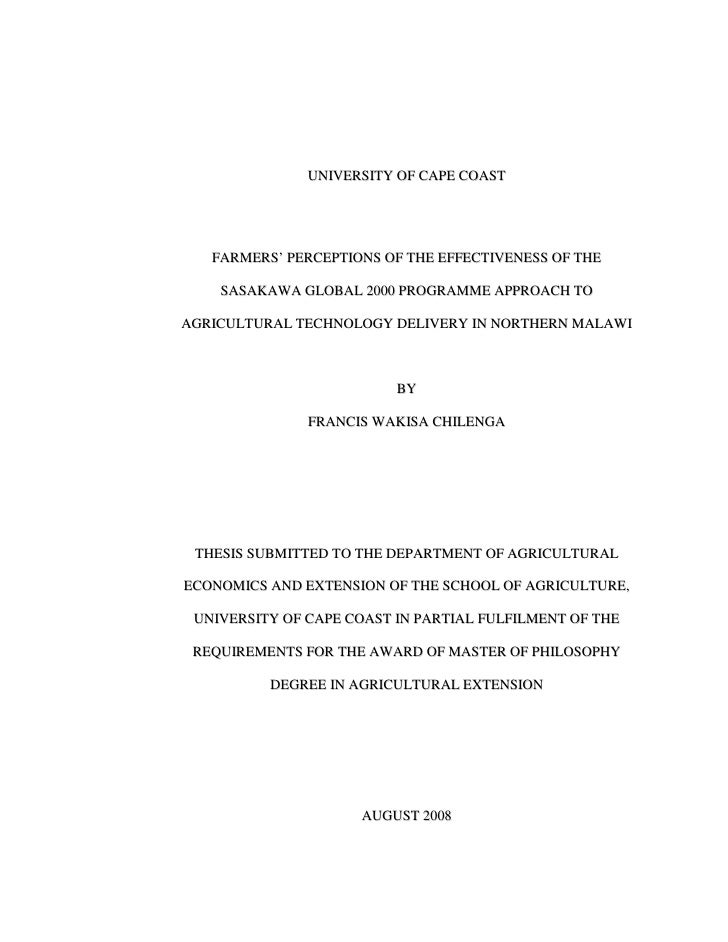 Master Thesis Vs Doctoral Dissertation