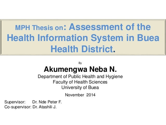 Health thesis