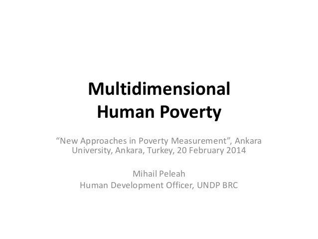 Multidimensional Human Poverty
