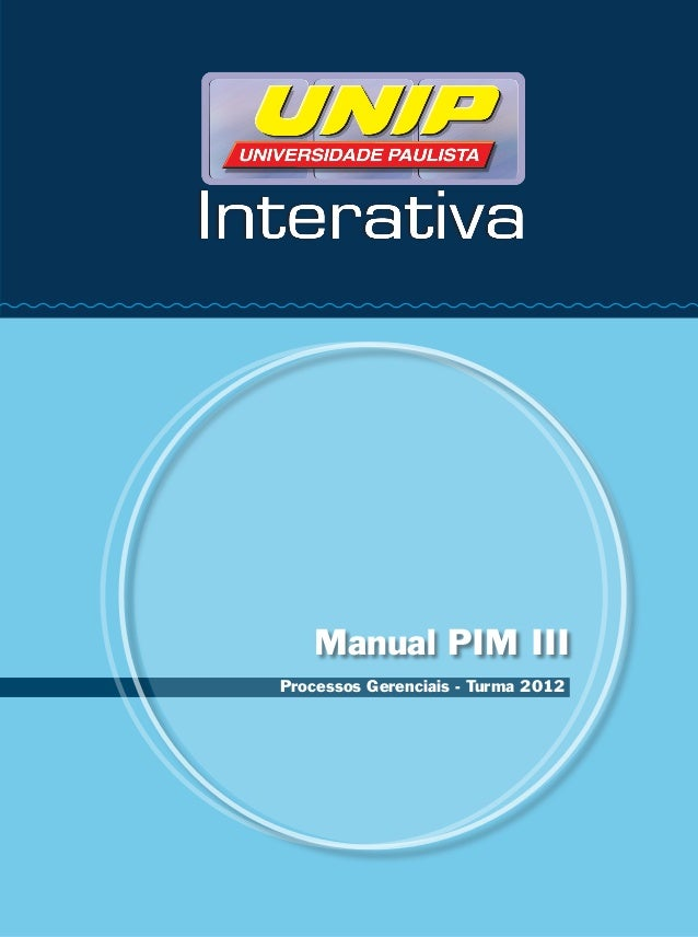 Manual PIM IIIProcessos Gerenciais - Turma 2012