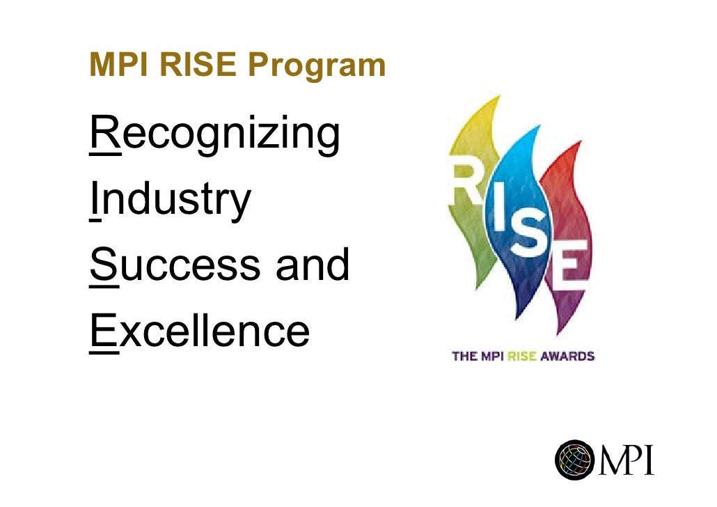 MPI RISE Program  Recognizing Industry Success and Excellence