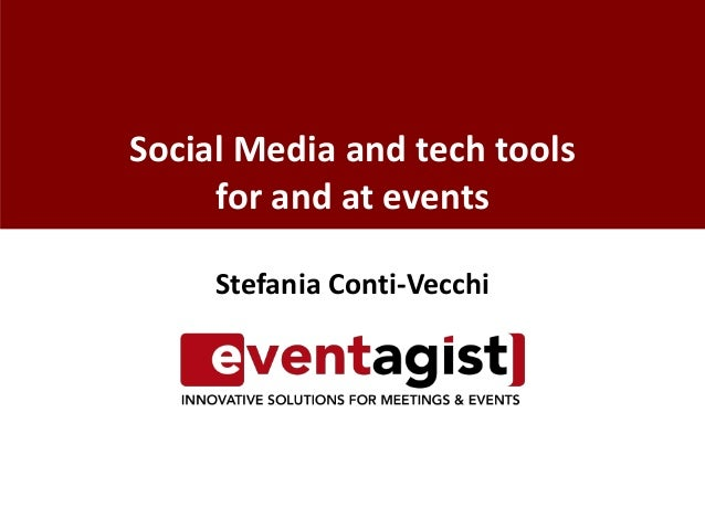 Social Media and tech tools for and at events