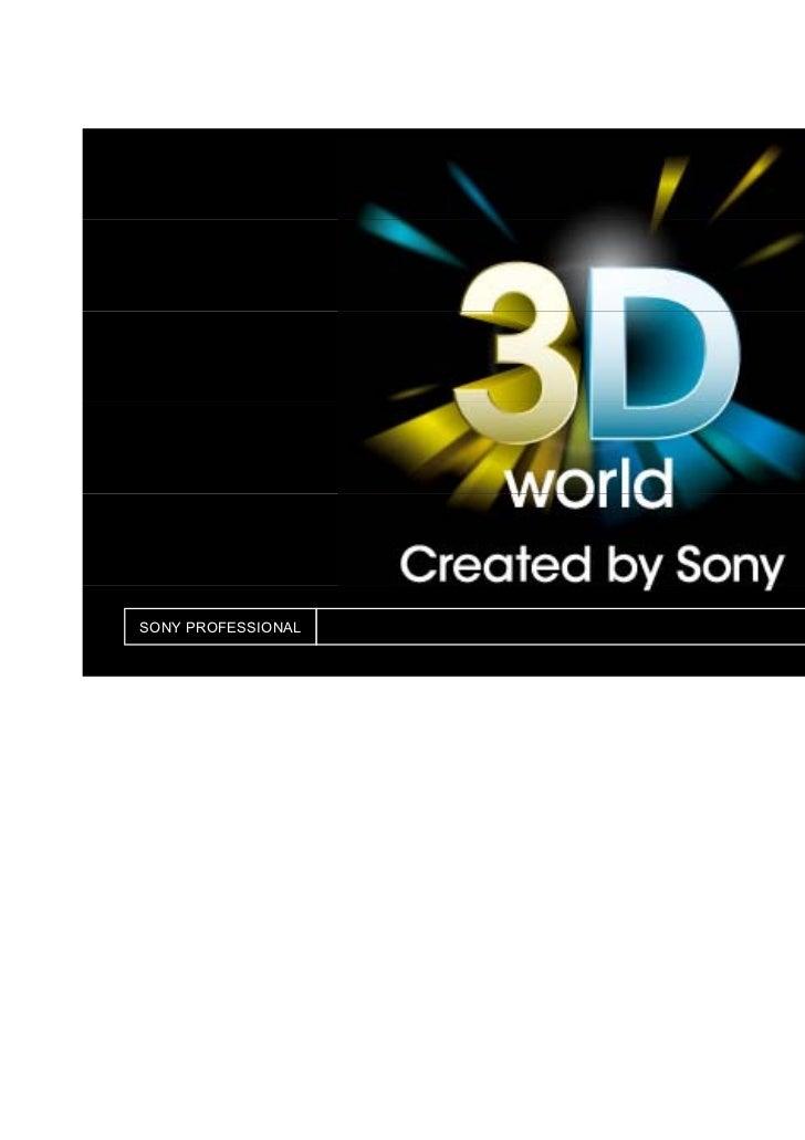 Sony ontbijtsessie 3D Mpjc 2011