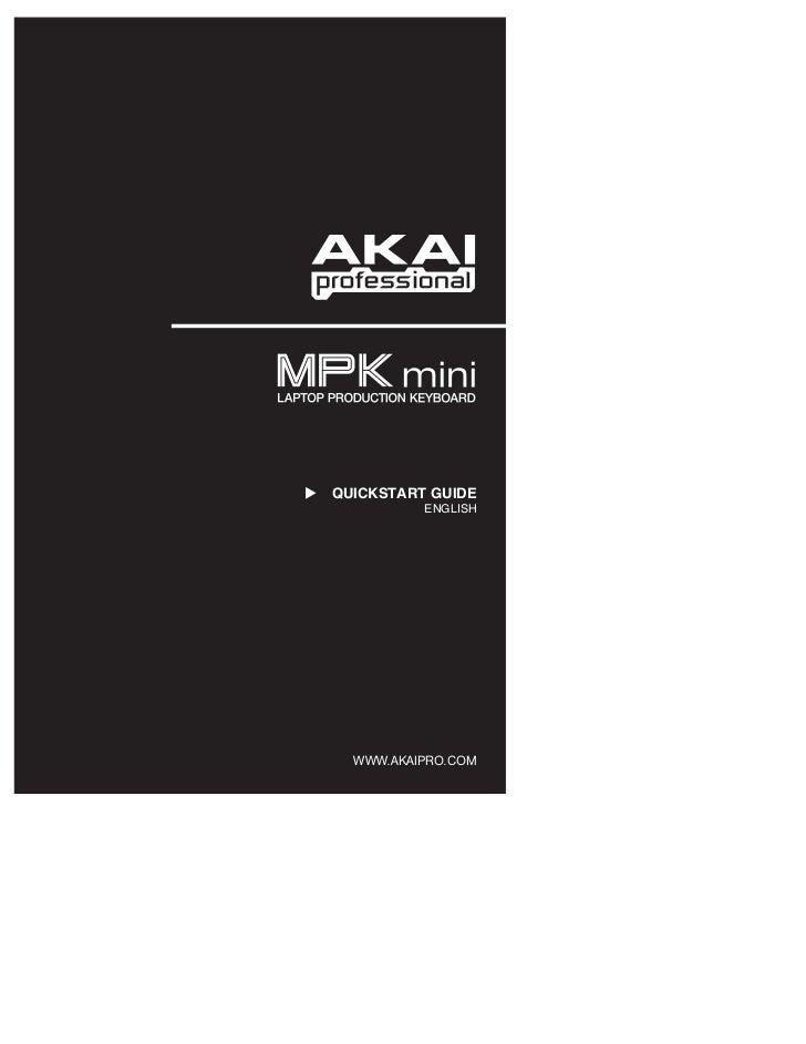 MPK Mini Keyboard Controller Quickstart Guide