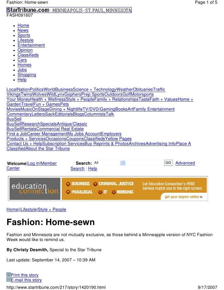 Fashion: Home-sewn                                                                           Page 1 of 5  FASH091607      ...