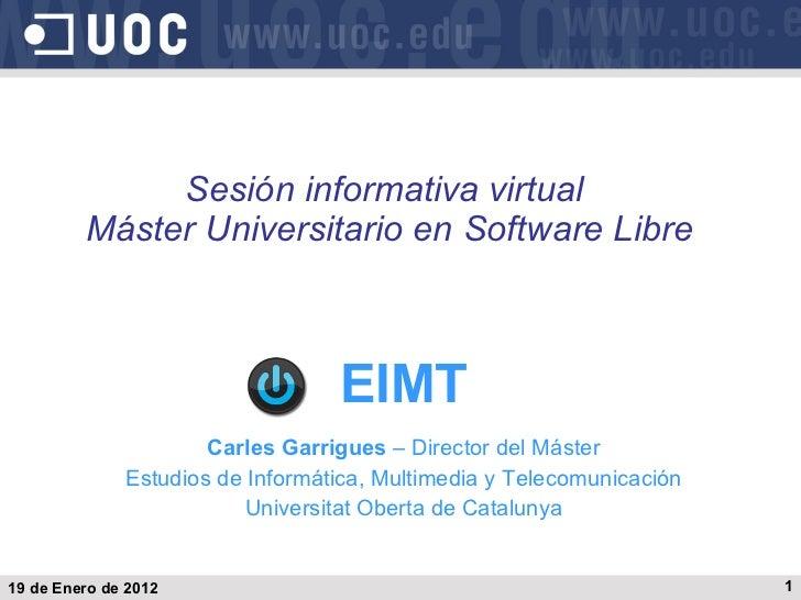 Máster Universitario en Software Libre de la UOC