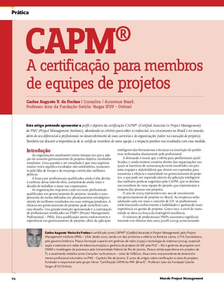 CAPM - A Certificação para membros de equipes de Projetos