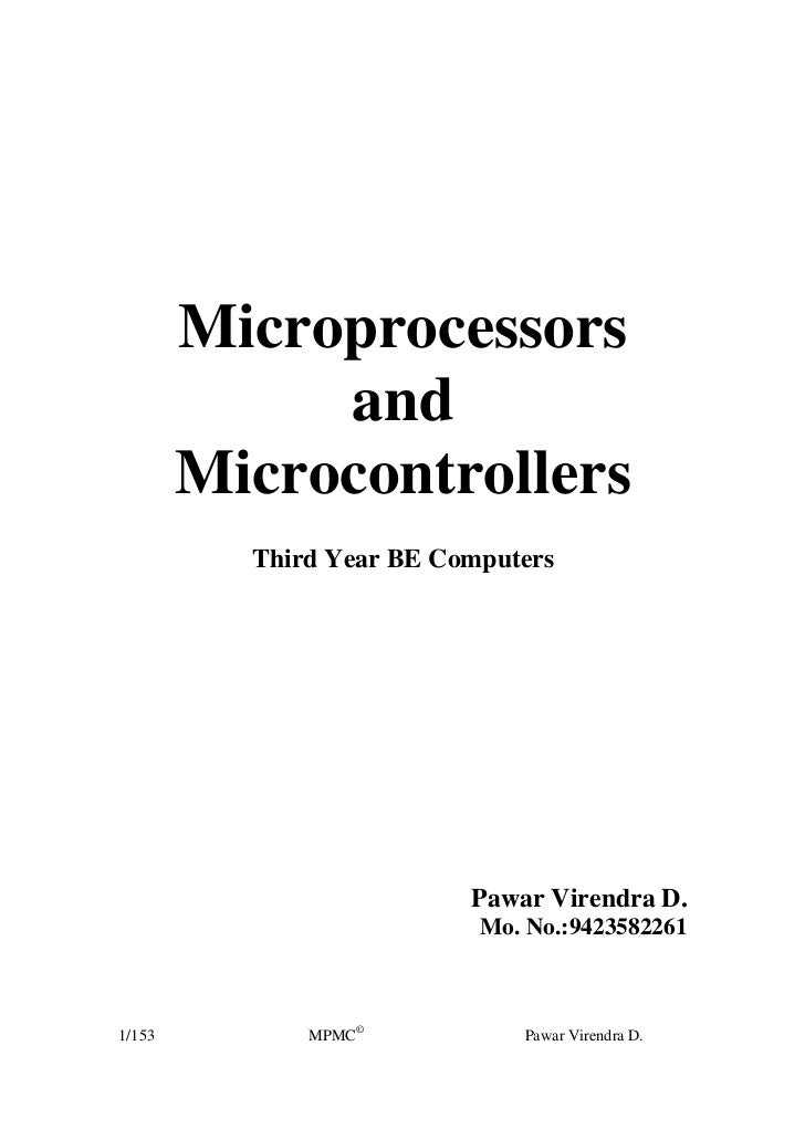 Microprocessors             and        Microcontrollers          Third Year BE Computers                          Pawar Vi...