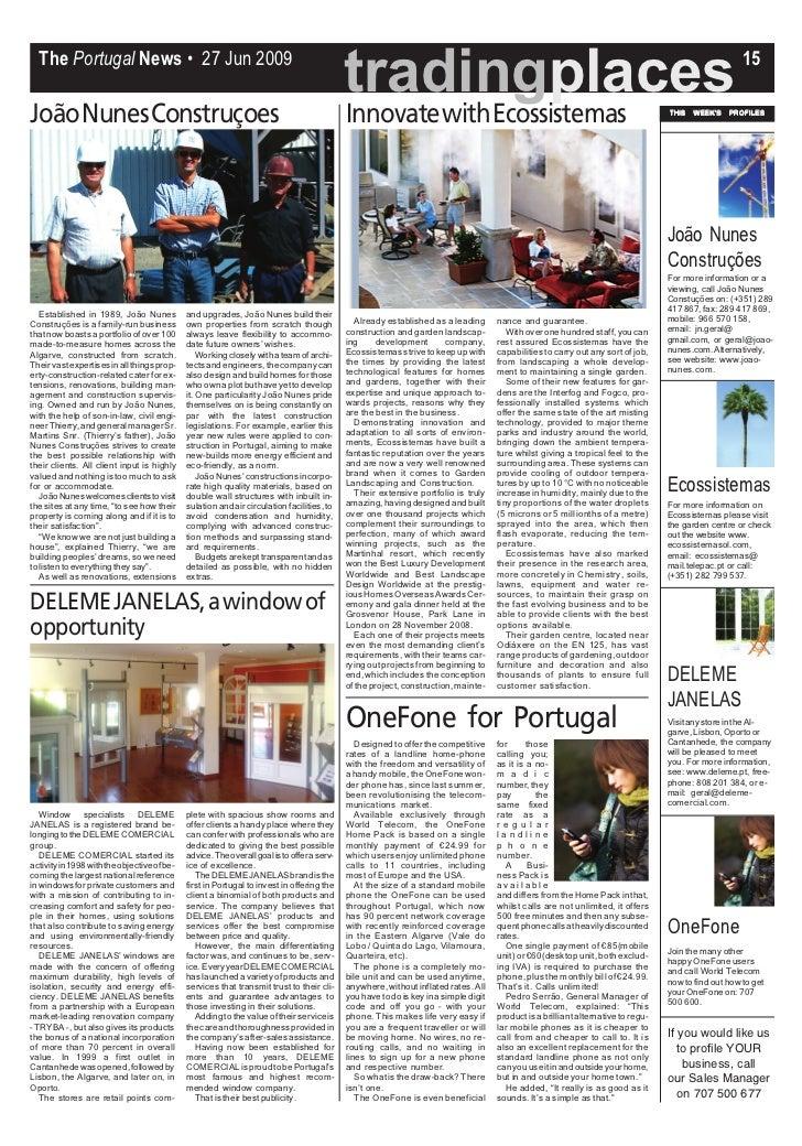 The Portugal News • 27 Jun 2009                                                                                           ...