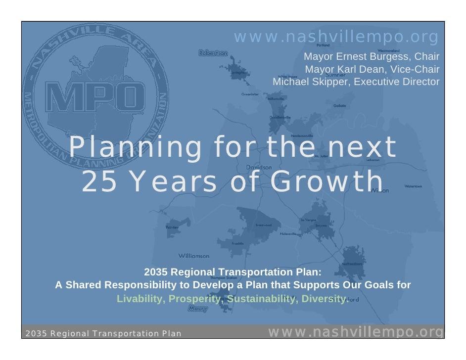 Regional Transit Planning in Nashville Area