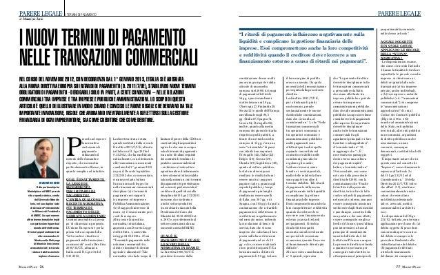 Mp pdf marzo 2013 articolo termini di pagamento
