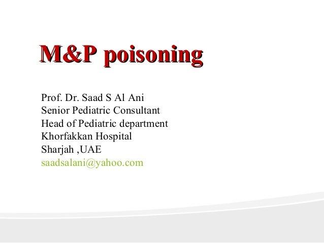 M&p poisoning