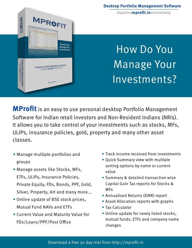 Desktop Portfolio Management Software                                                     maximumprofit.investwisely       ...