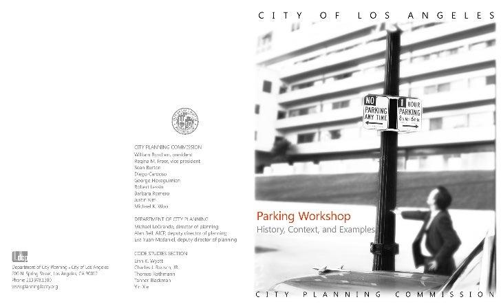 LA City Planning Commission Parking Workshop