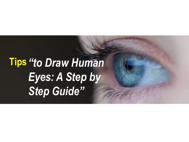 how to draw a human eye step by step