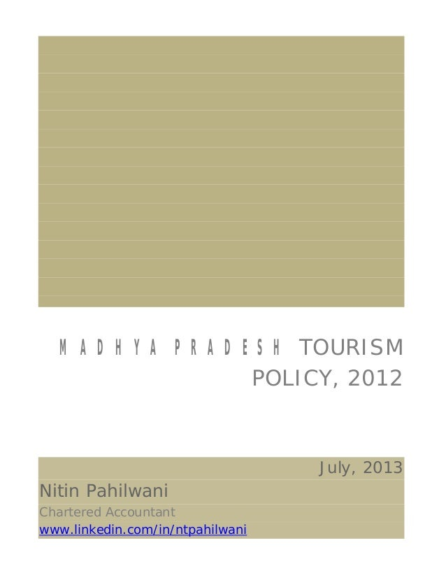 MP Tourism Policy, 2012