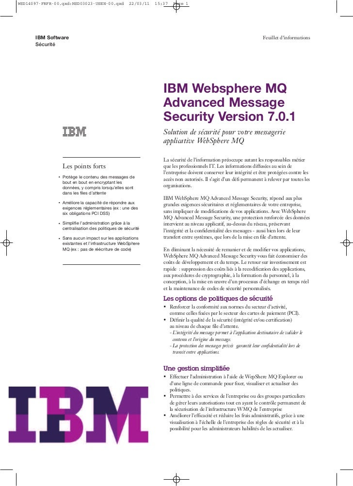 WebSphere MQ Advance Message Security