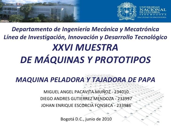 Departamento de Ingeniería Mecánica y MecatrónicaLínea de Investigación, Innovación y Desarrollo Tecnológico          XXVI...