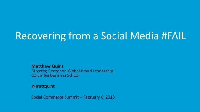 Business Insider, Social Commerce Summit, Matt Quint