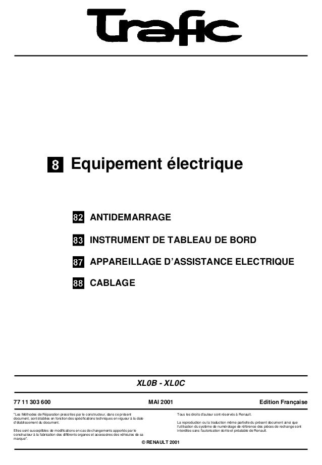 Equipement électriqueANTIDEMARRAGEINSTRUMENT DE TABLEAU DE BORDAPPAREILLAGE D'ASSISTANCE ELECTRIQUECABLAGEXL0B - XL0C77 11...