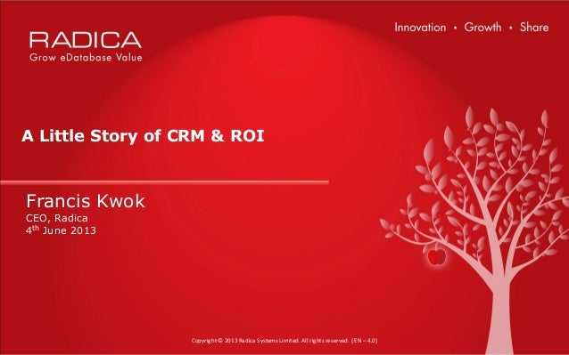 eCMO Conference 2013 - A Little Story of CRM & ROI