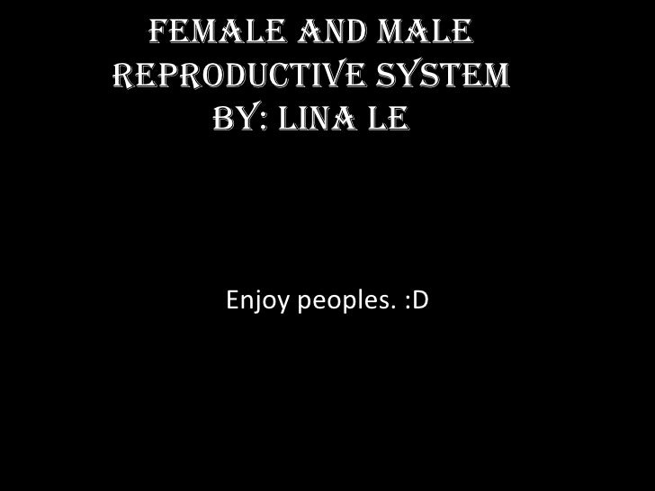 Female and Malereproductive system     by: lina le     Enjoy peoples. :D