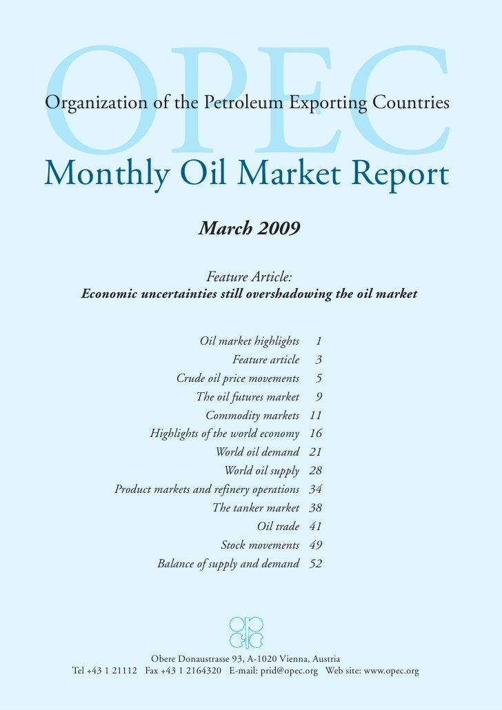 OPEC Oil Report - March 09