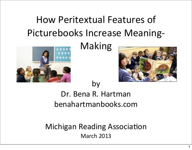 How	  Peritextual	  Features	  of	  Picturebooks	  Increase	  Meaning-­‐              Making                        by    ...