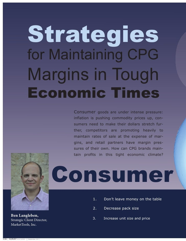 Strategies for Maintaining Margins in Tough Economic Times
