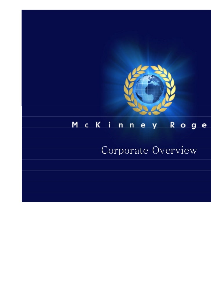 Corporate Overview