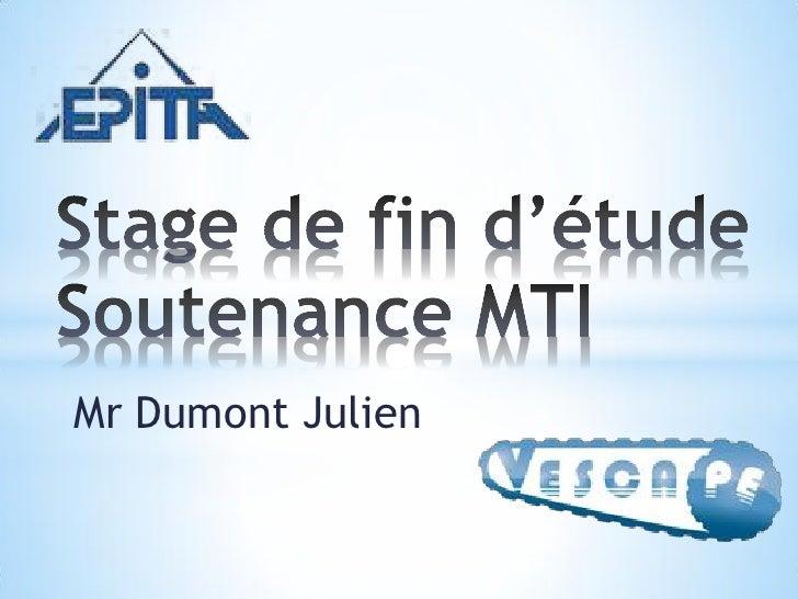 Mr Dumont Julien