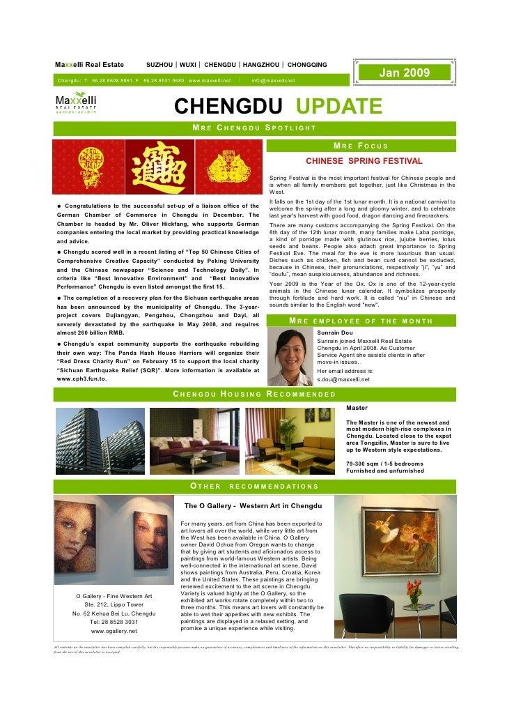 Maxxelli Real Estate                                      SUZHOU | WUXI | CHENGDU | HANGZHOU | CHONGQING    Chengdu: T 86 ...