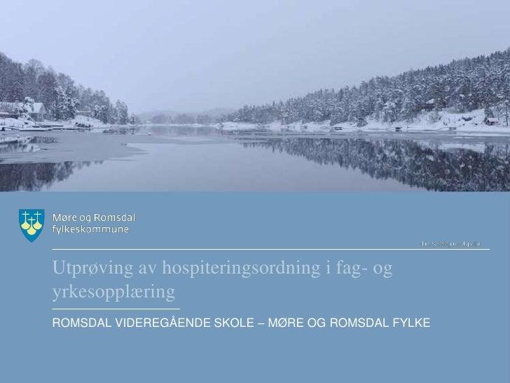 Møre og romsdal romsdal vgs hospiteringsordning 151210