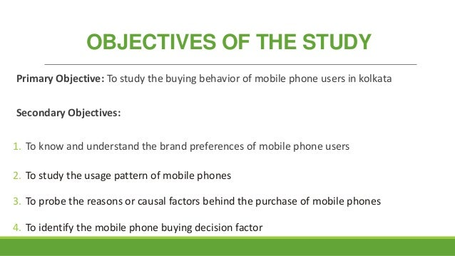 youth buying behaviour of mobile phones
