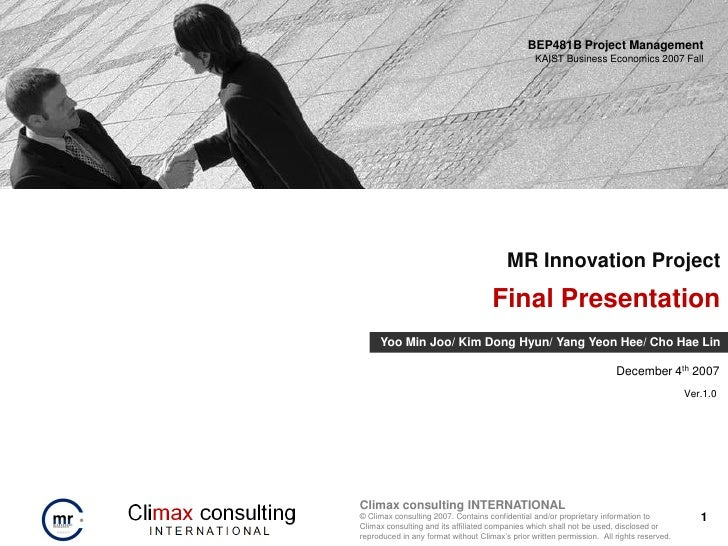 Final consulting project