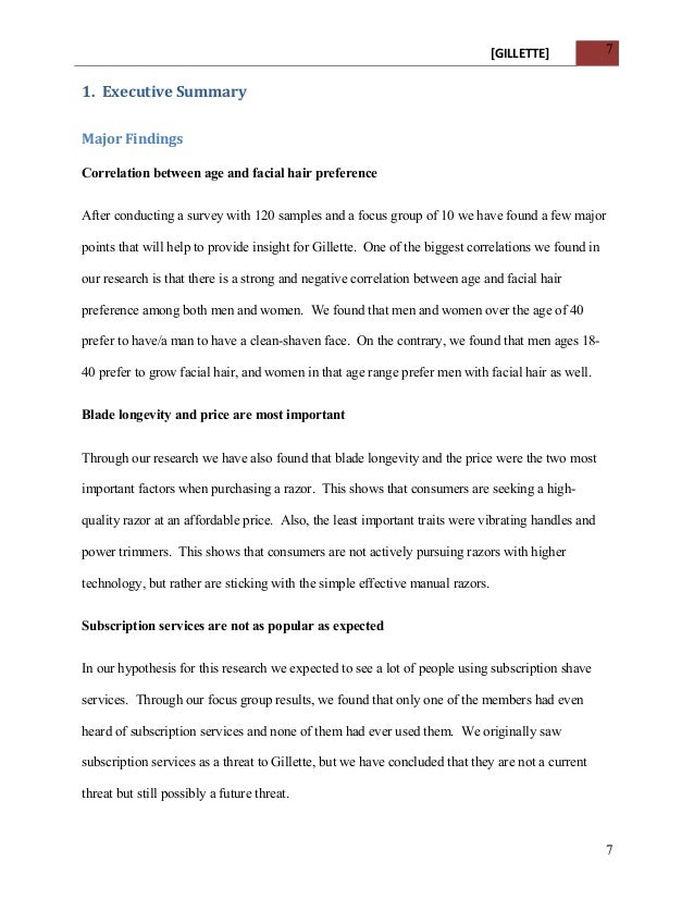 Apa Executive Summary Template Vosvetenet – 1 Page Executive Summary Template