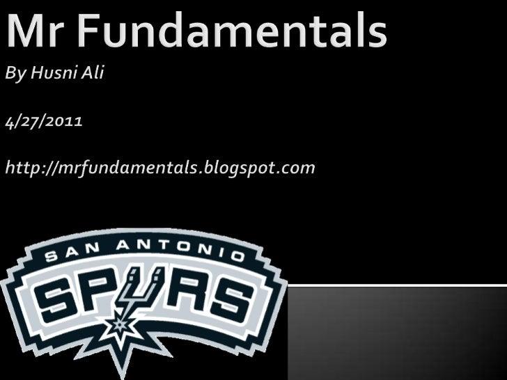 Mr fundamentals