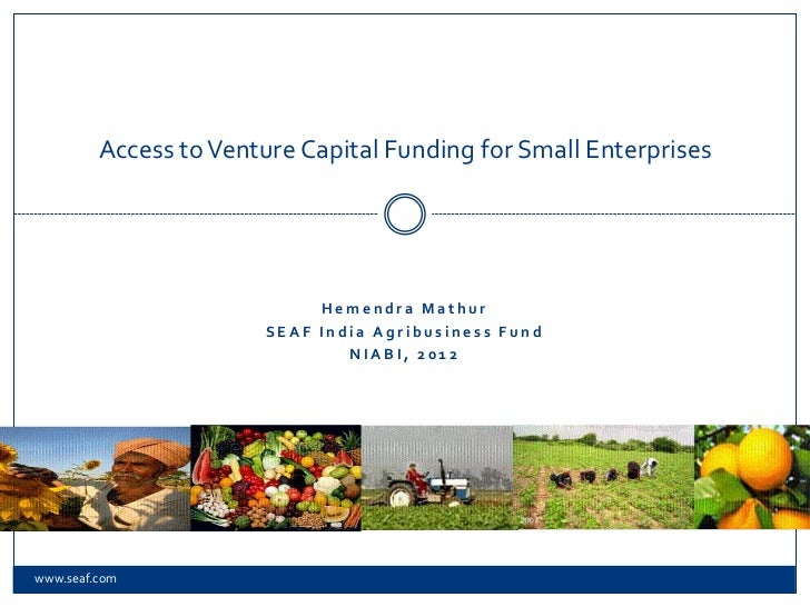 Access to Venture Capital fund  for small enterprises