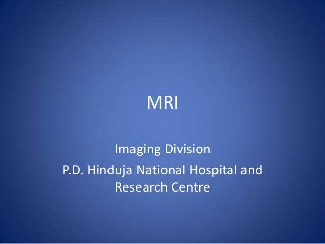 Webinar on Know About MRI - HInduja Hospital