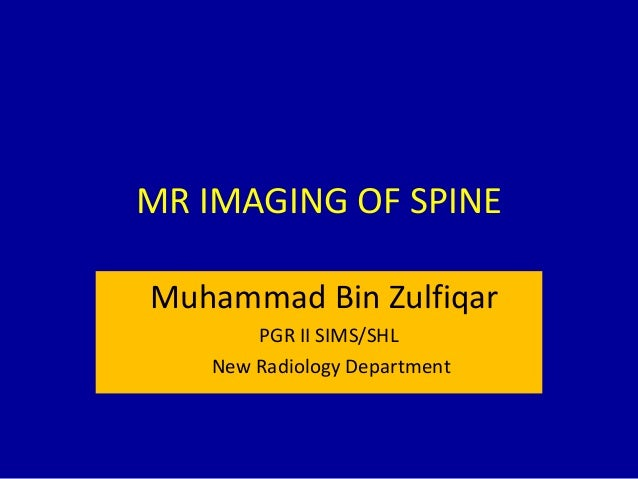 Mr imaging of spine