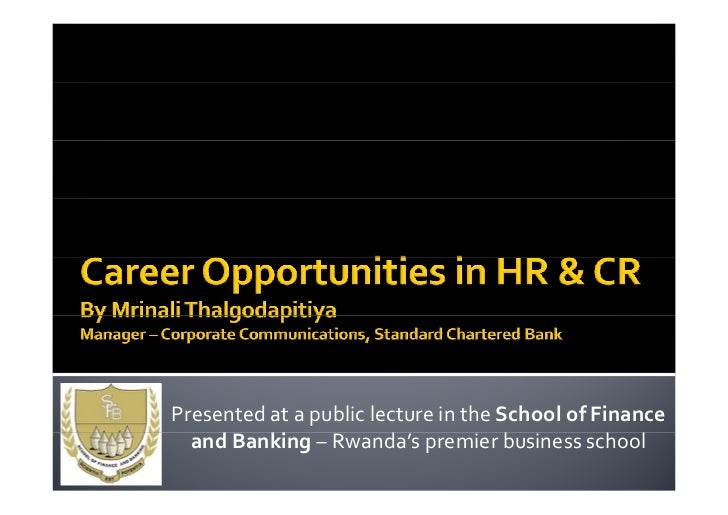 Career Opportunities in Human Resource & Corporate Relations Management