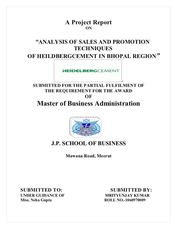 ANALYSIS OF SALES AND PROMOTION